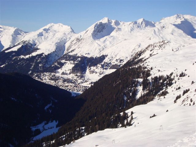 The view to Davos