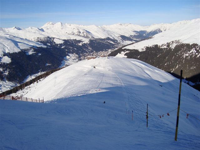 The piste to the Hübelhütte from Juoni, Davos