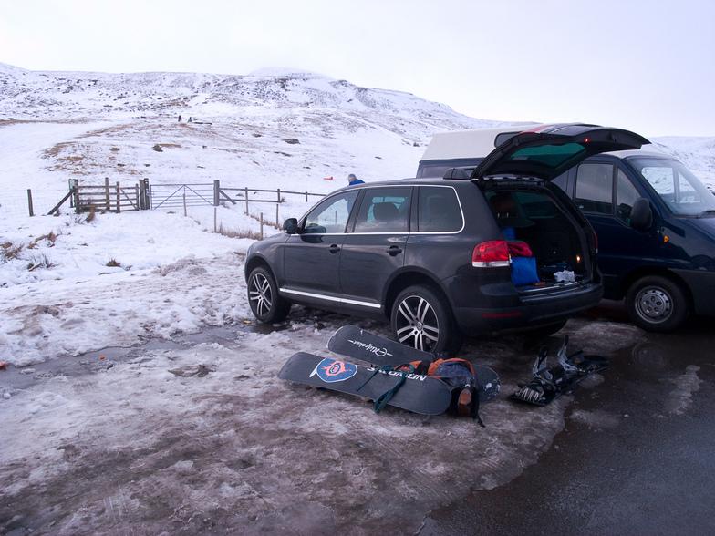 Storey Arms Car Park Snow, Pen-y-Fan