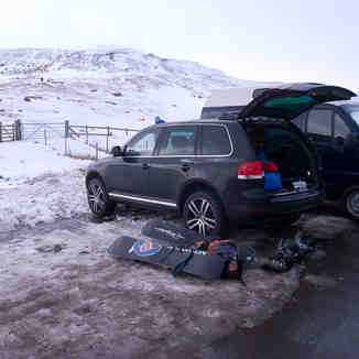 Storey Arms Car Park Snow, Pen-y-Fan