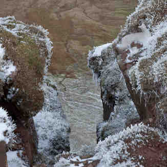 Frosty way down, Pen-y-Fan