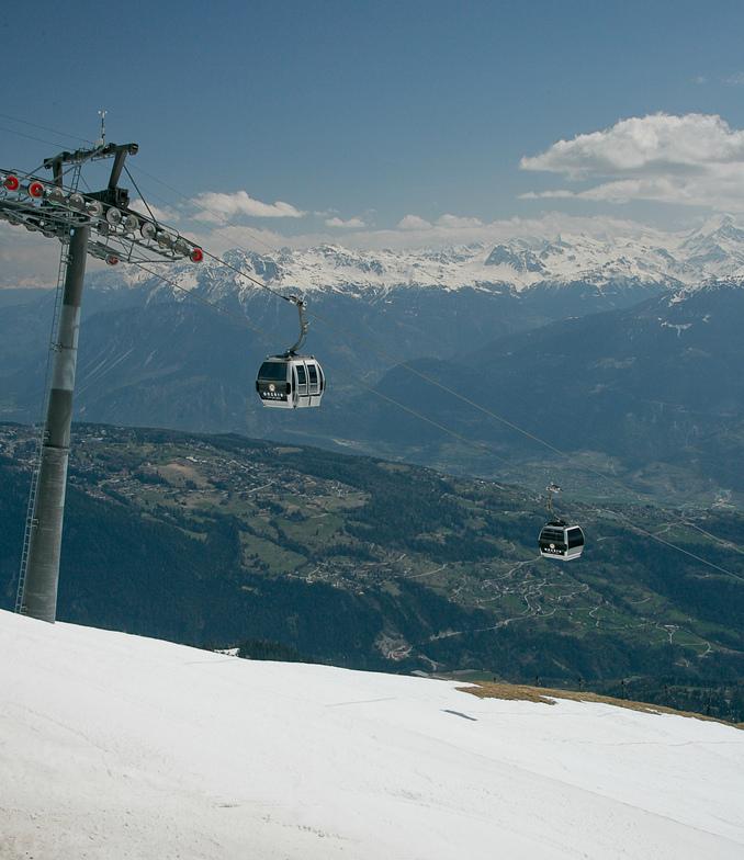 Anzere, End of the ski season, Anzère