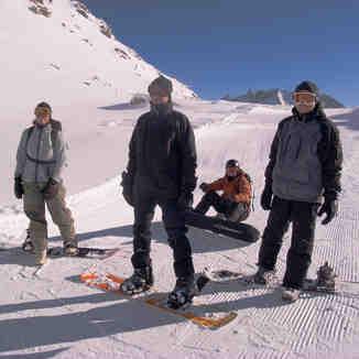 Snow-Forecast.com team in Arolla