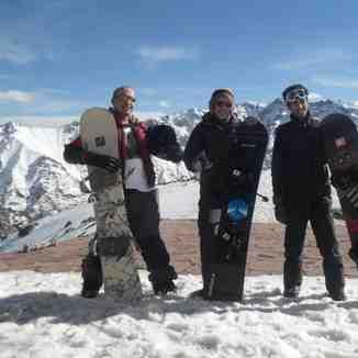 Snowboarding in the summit of Oukaimeden, Oukaïmeden