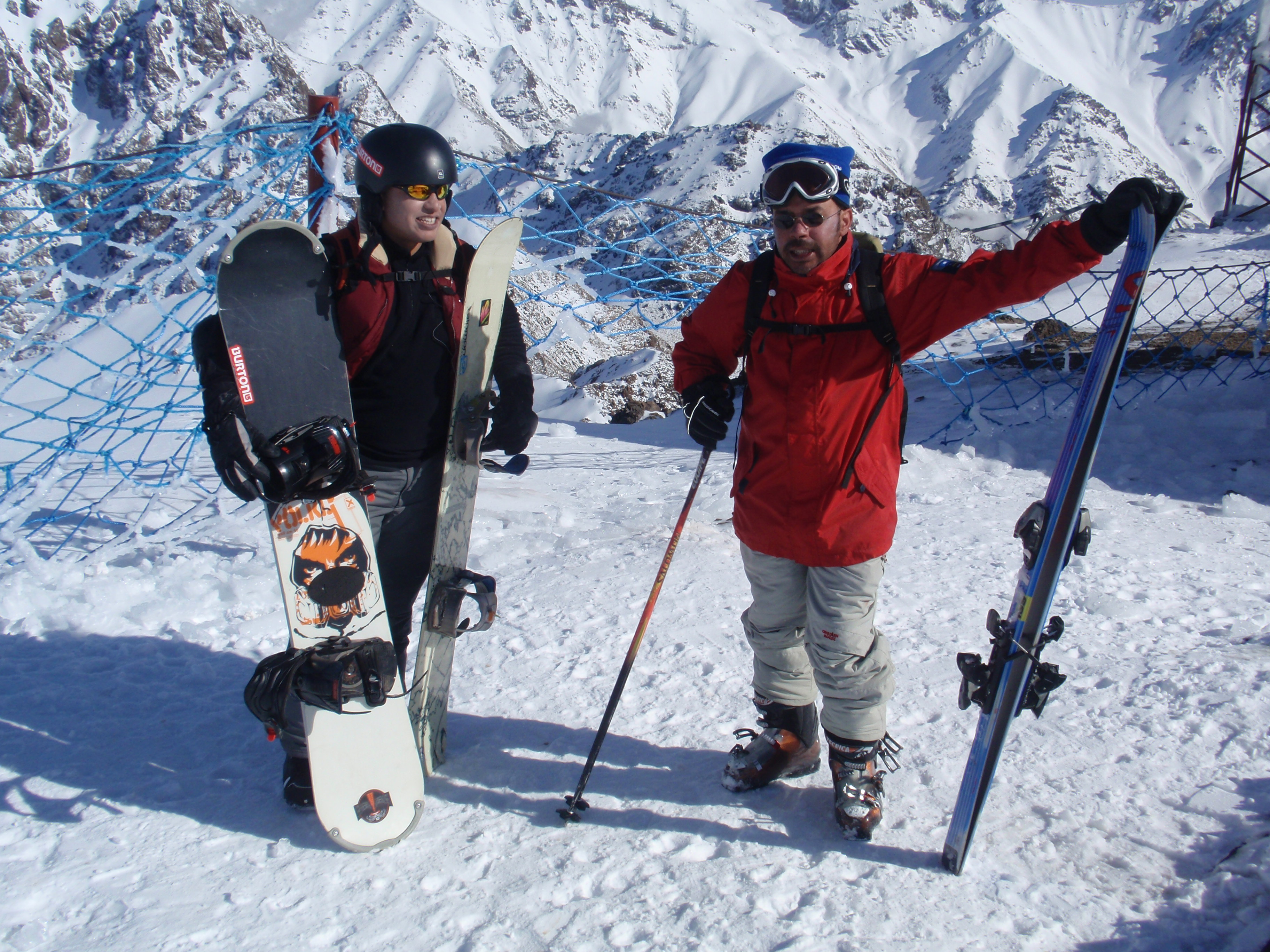 Skiing at the summit of Oukaymeden, Oukaïmeden
