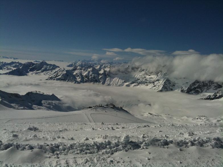 View form the top - Klein Matterhorn to Cervinia, Zermatt