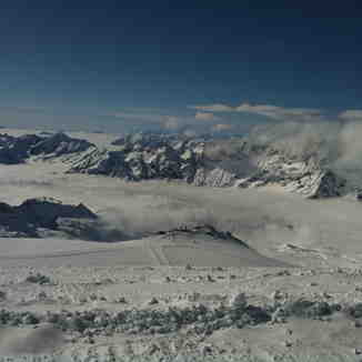 View form the top - Klein Matterhorn to Cervinia, Zermatt