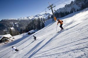 Piste skiing in Gosau-Zwieselalm photo