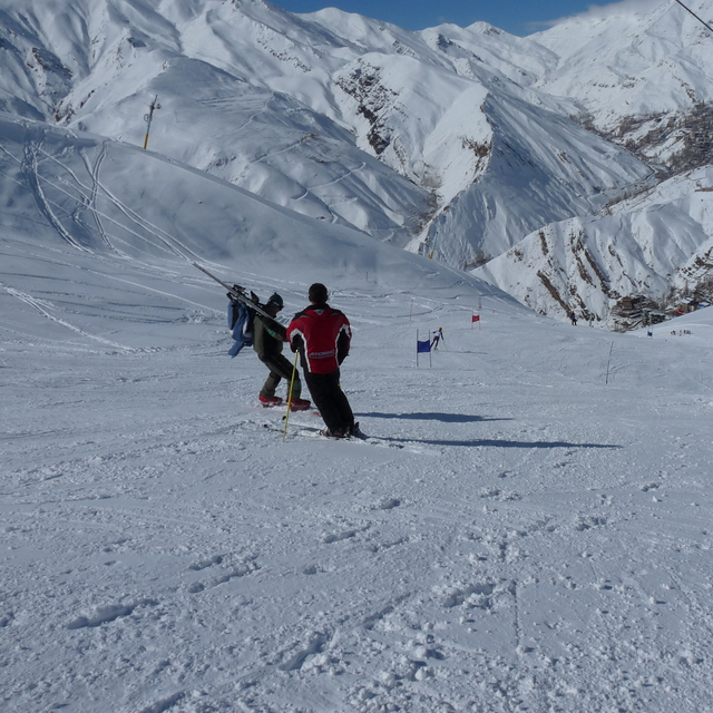 Ski competition in Shemshak