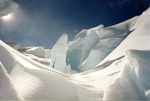 Serac on Tasman Glacier, Aoraki-Mt Cook photo
