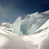Serac on Tasman Glacier, New Zealand