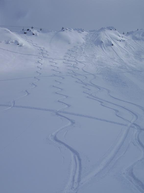 Kicking Horse snow