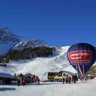 Courmayeur - view from bottom of the resort
