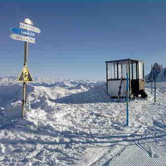 Link to La Grave, view from the top of La Lauze, Les Deux Alpes