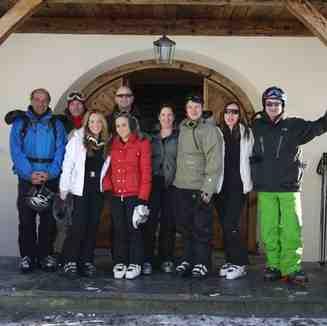 Tony and the crew from the Tivoli Chalet, Davos