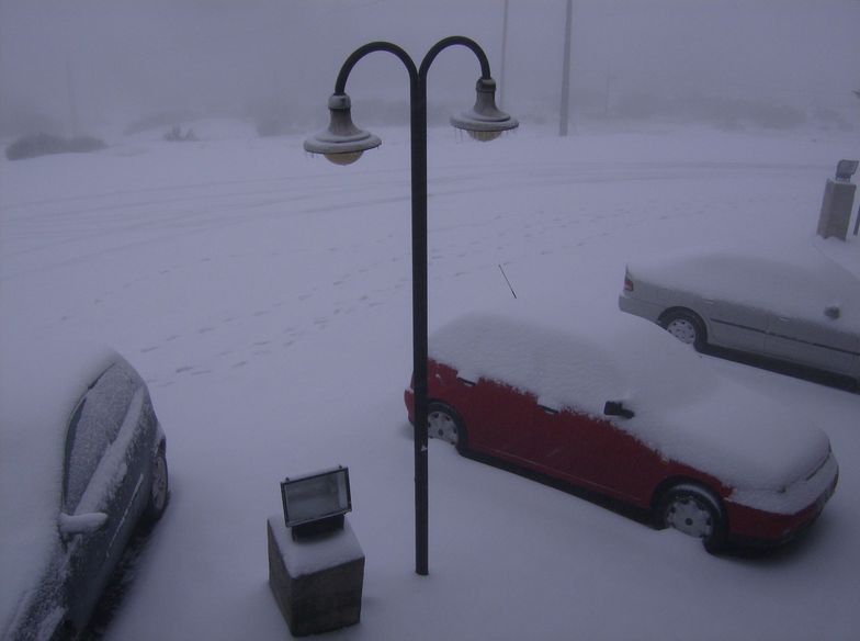 Blizzard in Covilhã, Serra da Estrela, Portugal