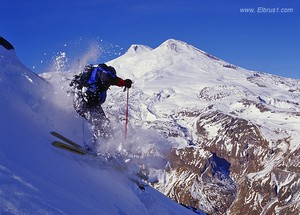 Free-ride in Cheget with Mt. Elbrus view, Mount Cheget photo