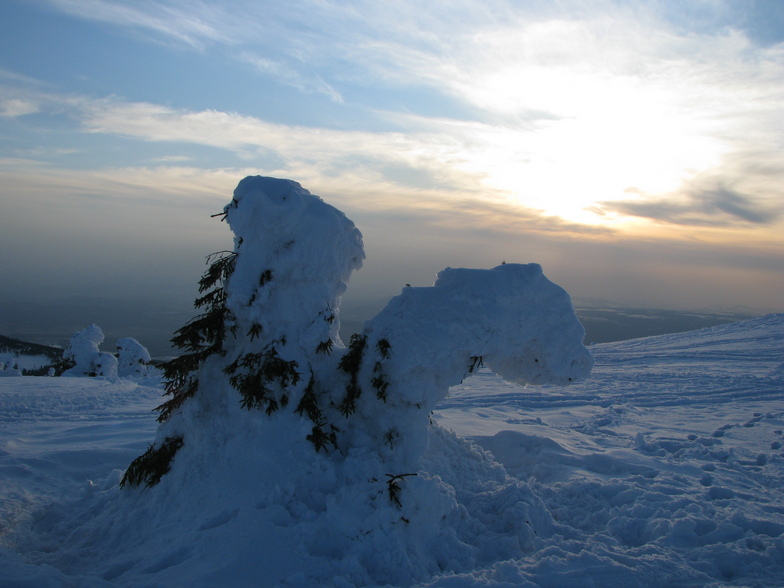 Snow statue, Harghita Mădăraş