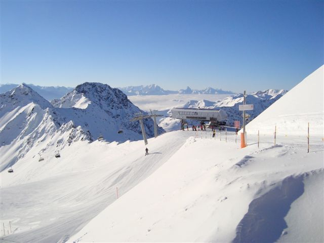 The view from the Weissflujoch, Davos