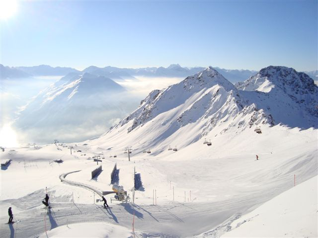 The easterm face of the Weissflujoch, Davos