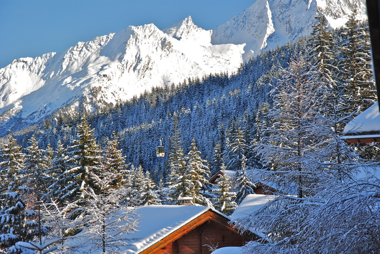 View from the front door of Chalet Chalouis., La Tania