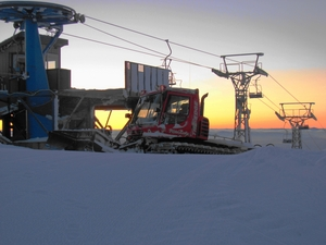 Snowcat Sunrise, Mt Baldy Ski Area photo