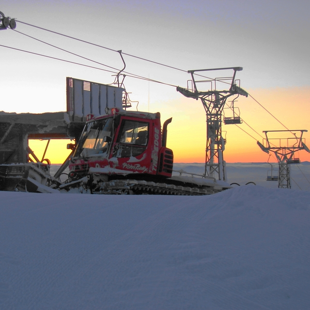 Snowcat Sunrise, Baldy Mountain Resort