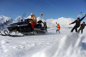snowmobile, La Thuile photo