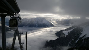 View from top of telecabine, Champagny photo