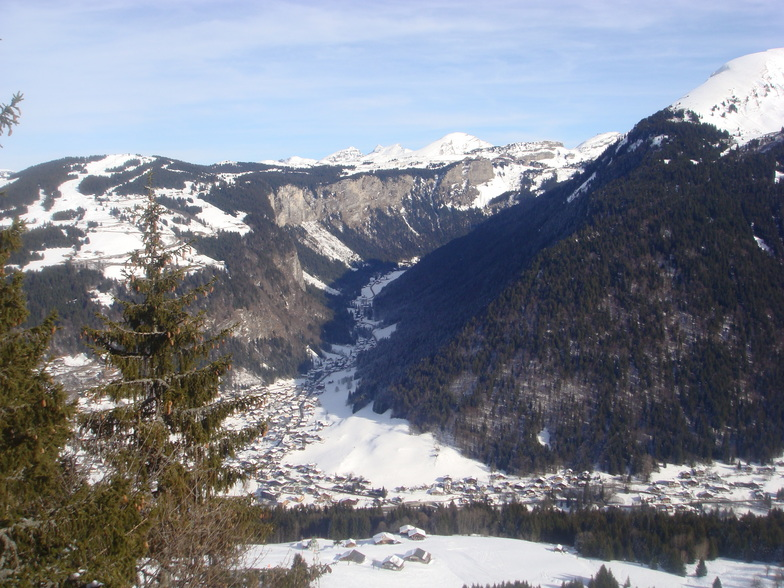 view from le viking hotel, Morzine