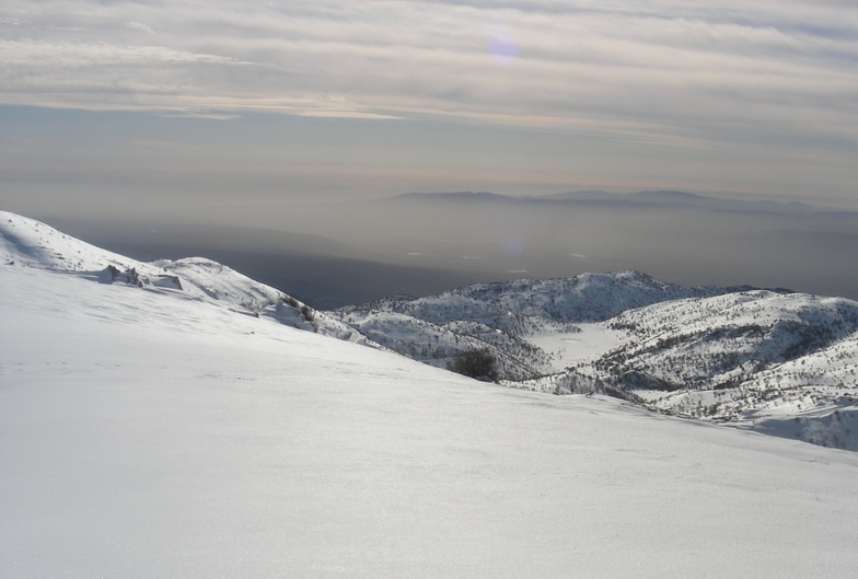 Off piste looking south west, Mount Hermon