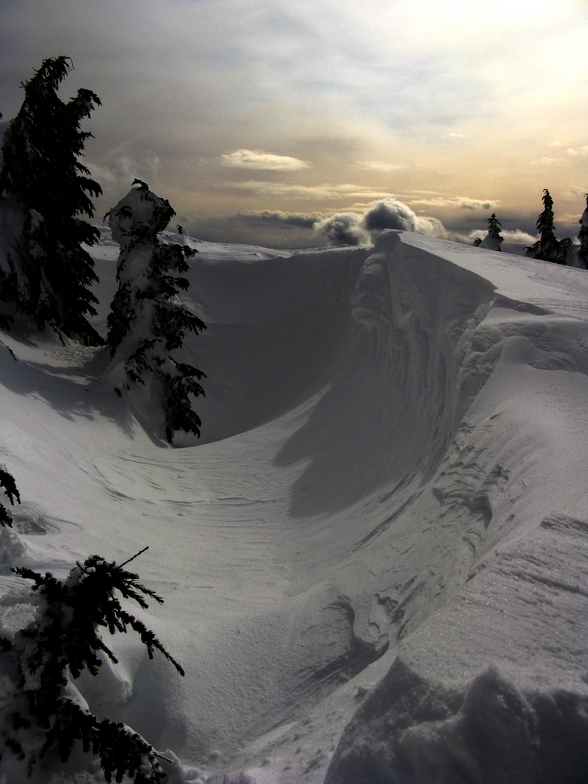 Wind whipped off Oh Henry, Mount Washington