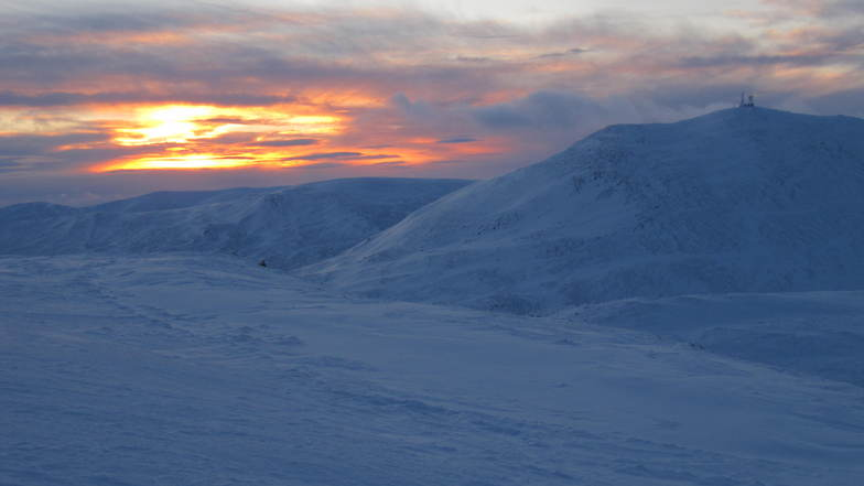cairnwell looking south at dusk, Glenshee