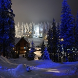 Drahobrat at night, Ukraine