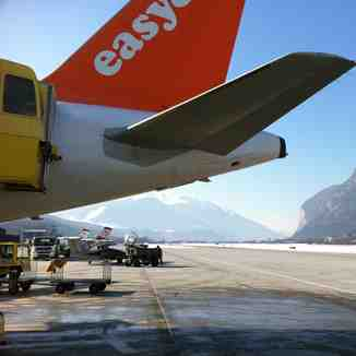 Arrival at Innsbruck Airport