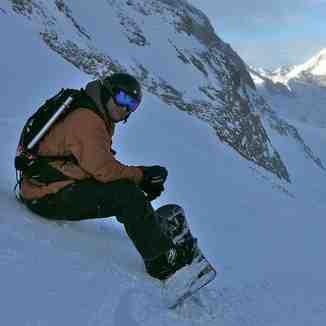 Snowboarding Stubai Glacier