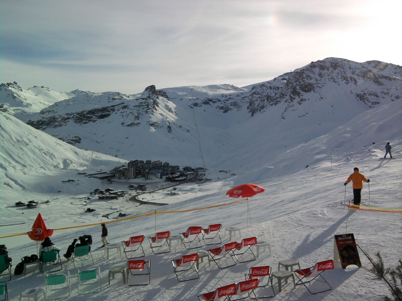 End of the journey day - happy hour drink, Tignes