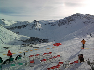 End of the journey day - happy hour drink, Tignes photo