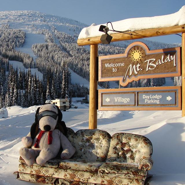 snoops says WOW POW not bow wow, Baldy Mountain Resort