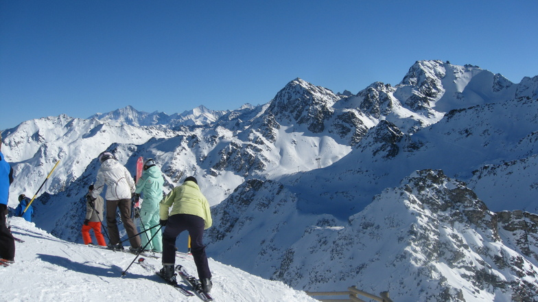 Preparing for the Descent from Mont Gele, Verbier