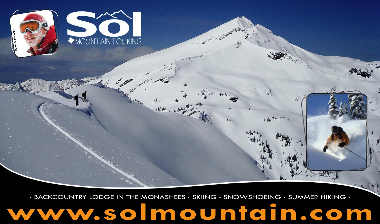 Sol Mountain Lodge in the Monashees, Sol Mountain Touring