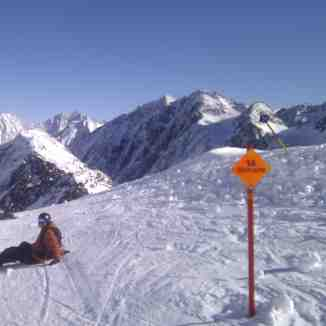 Home Run to resort, Stubai, Stubai Glacier