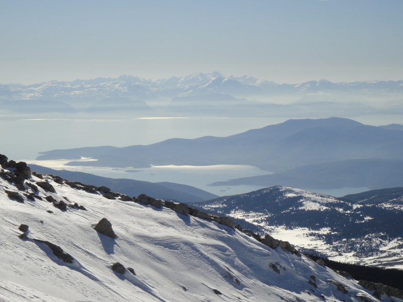 View from Gerontovrachos ski center (Parnasos mountain), Mount Parnassos