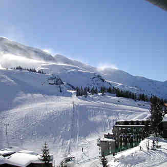 Avoriaz, from the Lift, Tour toward the Black piste: Coupe du Monde