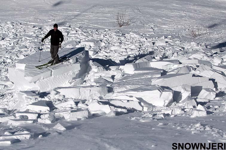 Slab avalanche Breza, Brezovica