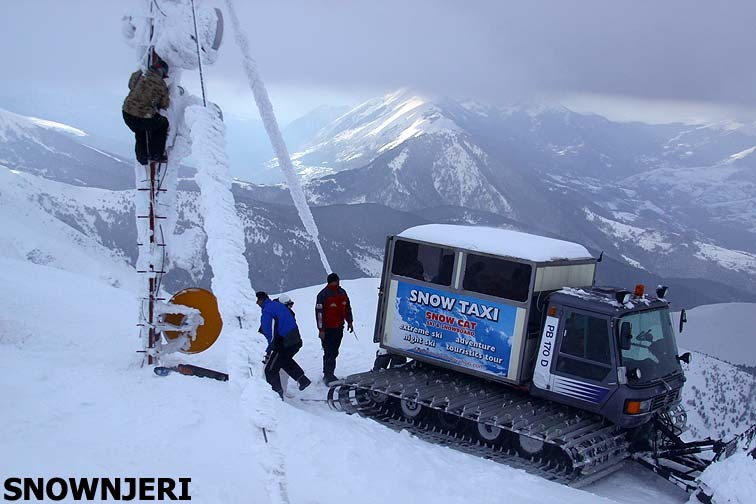 With Snow Taxi on top, Brezovica
