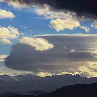 Speedy profile face cloud, Brezovica