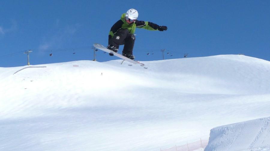 Andrew (12) gets some air,,.., Sunshine Village