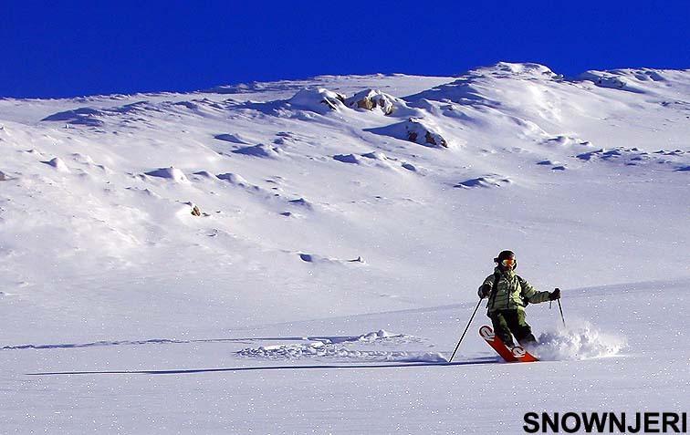 "On ""Perrockas"" deep snow, Brezovica"