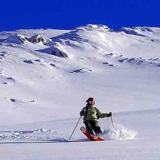 "On ""Perrockas"" deep snow, Brezovica"